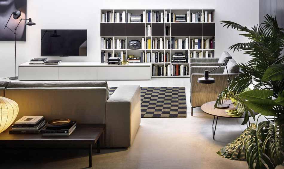 Cinquanta3 – 06 Zona Giorno Librerie – Bergamo Arredamenti