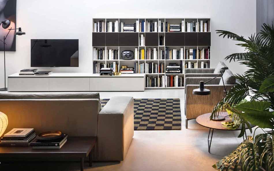 Cinquanta3 – 09 Zona Giorno Librerie – Bergamo Arredamenti