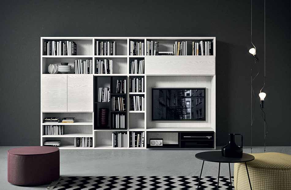 Cinquanta3 – 14 Zona Giorno Librerie – Bergamo Arredamenti