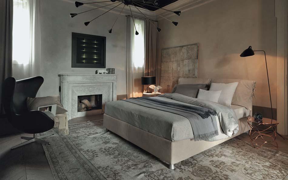 Flou Letti moderni Nathalie 1 – Bergamo Arredamenti