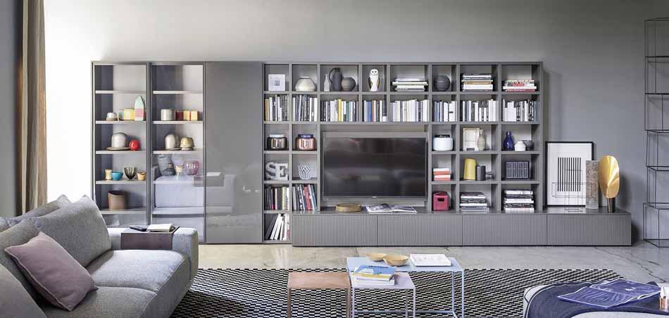 Novamobili 01 Living Libreria – Bergamo Arredamenti
