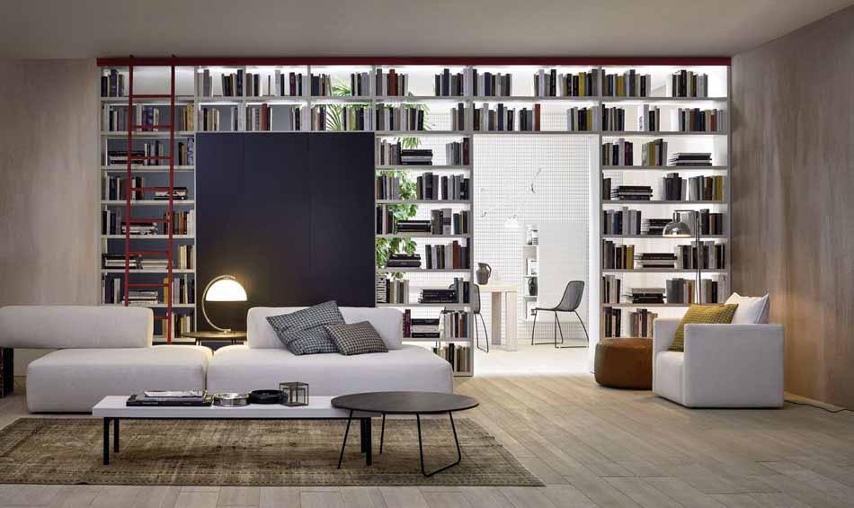 Novamobili 07 Living Libreria – Bergamo Arredamenti