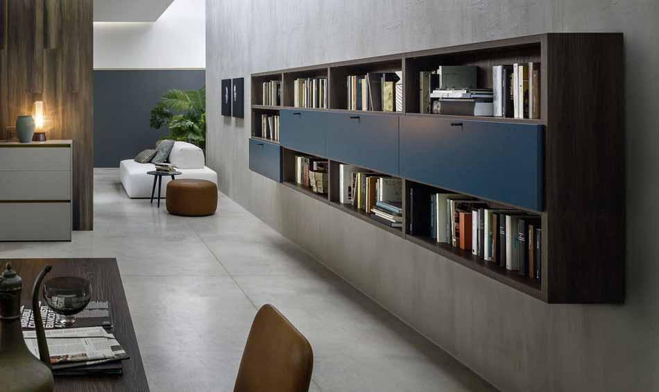 Novamobili 10 Living Libreria – Bergamo Arredamenti