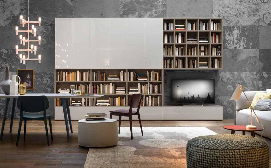 Novamobili 13 Living Libreria – Bergamo Arredamenti