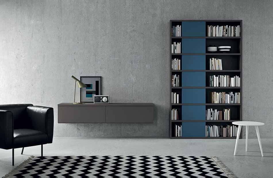 Novamobili 19 Living Libreria – Bergamo Arredamenti