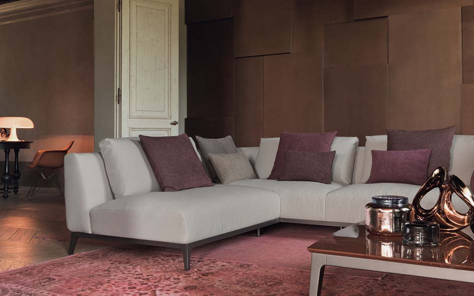 Salottii moderni Flou Olivier 3 – Bergamo Arredamenti