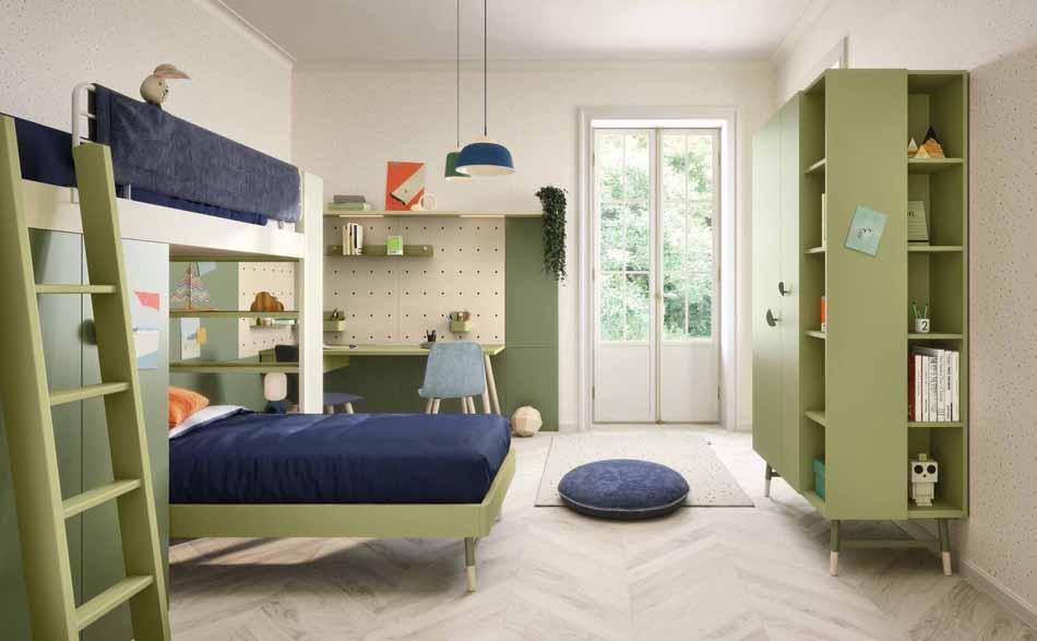 Battistella Camerette – 08 Kids Soppalco – Bergamo Arredamenti