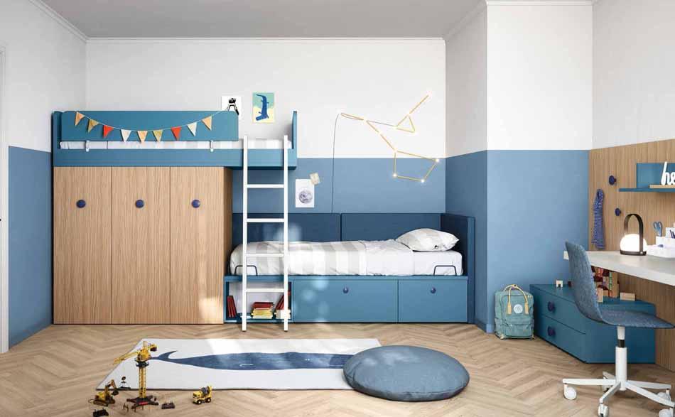 Battistella Camerette – 09 Kids Soppalco – Bergamo Arredamenti