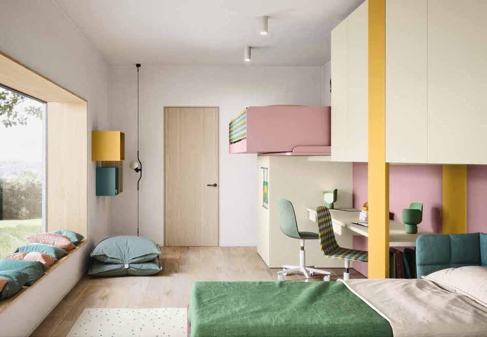 Battistella Camerette – 12 Kids Soppalco – Bergamo Arredamenti