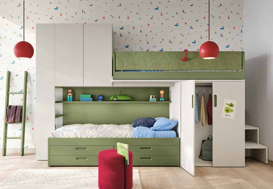 Battistella Camerette – 14 Kids Soppalco – Bergamo Arredamenti